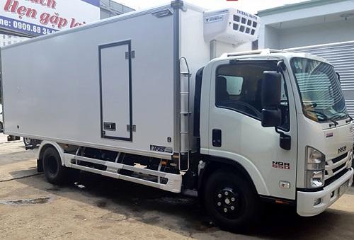 Xe tải Isuzu NQR 550 – 5.7 tấn thùng đông lạnh