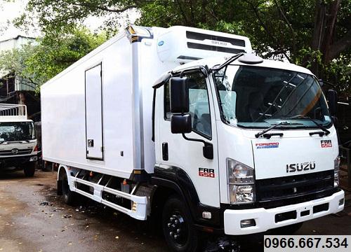 Xe tải Isuzu FRR 650 – 6.2 tấn thùng đông lạnh