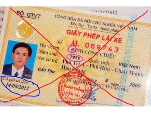 giấy phép lái xe ô tô hết hạn