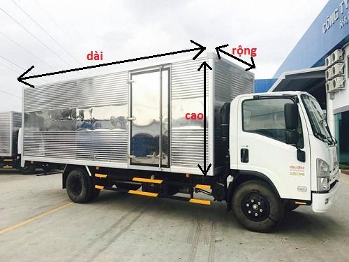 Kích thước thùng xe tải 3.5 tấn Isuzu đạt chuẩn cho từng loại