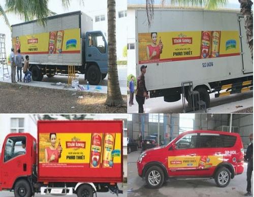3 phút nắm rõ ngay quy định về dán quảng cáo trên xe tải mới nhất