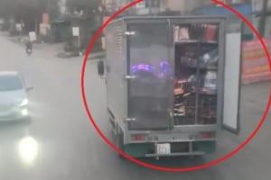 Cửa thùng xe tải và mức xử lý lỗi không đóng cửa thùng xe tải