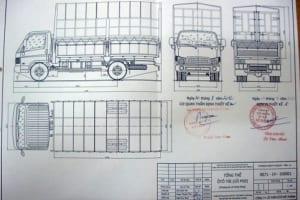 Bản vẽ thiết kế thùng xe tải đúng tiêu chuẩn