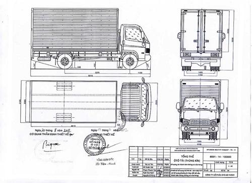 xe hạ tải là như thế nào? bản vẽ hồ sơ cải tạo xe